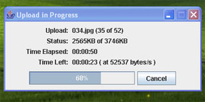 Box.net upload progress bar