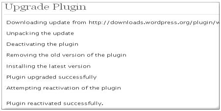 wordpress plugin upgrade screenshot